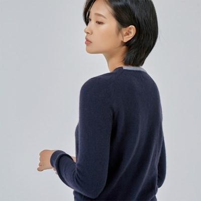 Ilch Cashmere Sweater Women_Navy