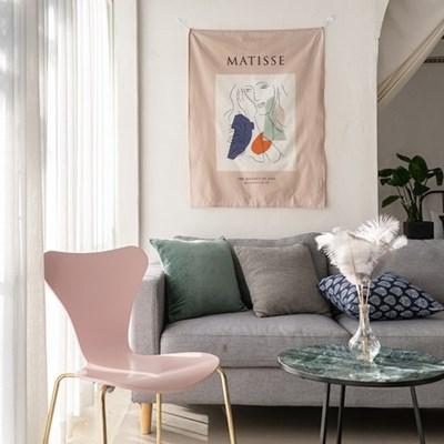 마티스 핑크 패브릭 커튼 포스터