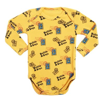 Yellow Stamp Bodysuit