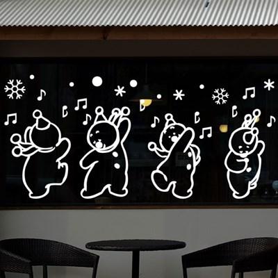 cmi279-춤추는 눈사람-크리스마스스티커