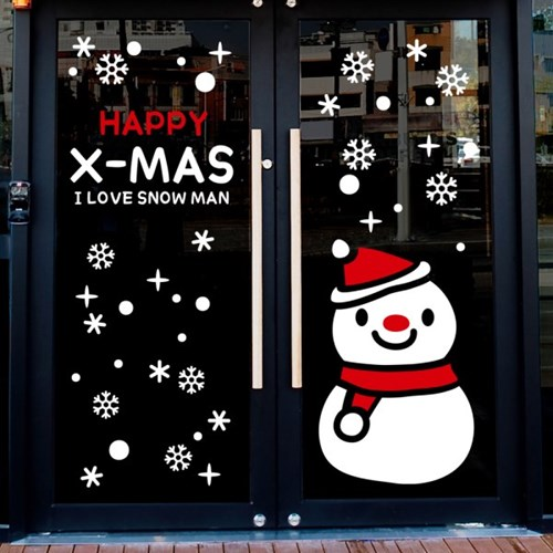 cmi274-아이러브 눈사람-크리스마스스티커