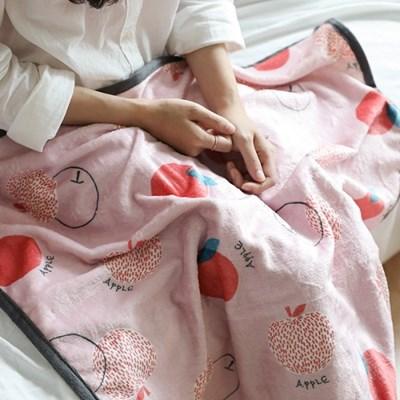 극세사 담요 피치애플