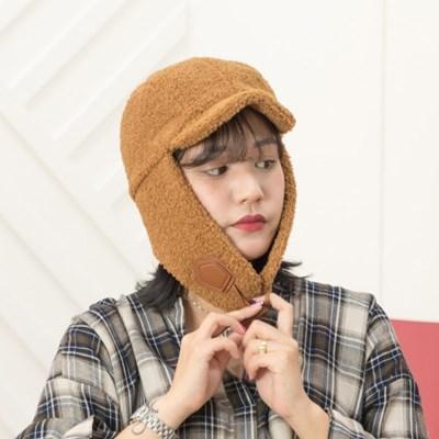 H-7[트래퍼햇]양털캡 귀달이 모자/방한모자 군밤모자 털모자