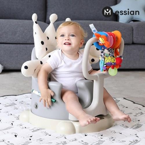 아기의자 P-Edition+크라운2종(베개+라이너) 유아 이유식의자