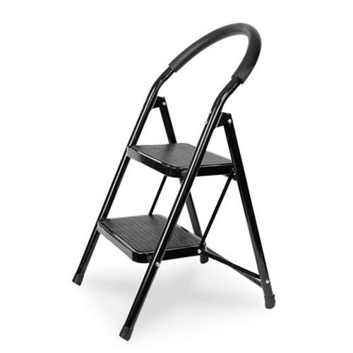 접이식 사다리 계단형 2단 3단 4단 (블랙) 하중 90kg