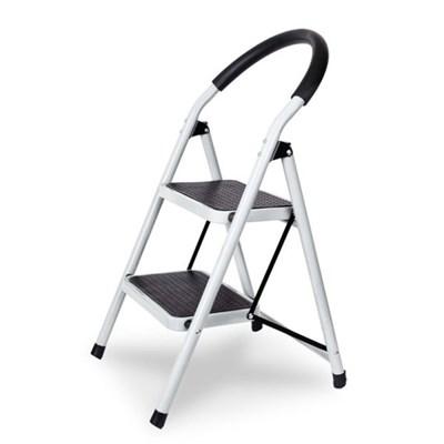 가정용 계단형 접이식사다리 (화이트) 하중90kg