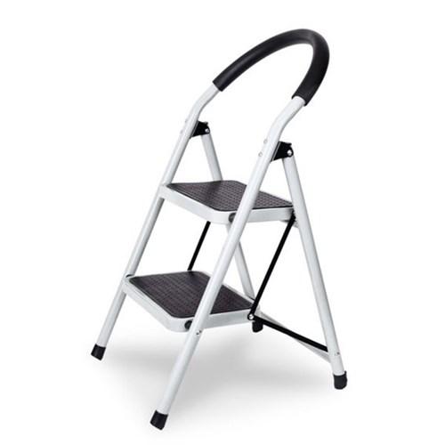 접이식 사다리 계단형 2단 3단 4단 (화이트) 하중 90kg