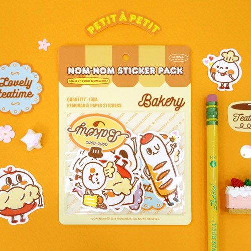 Nom-nom Sticker Pack_Bakery