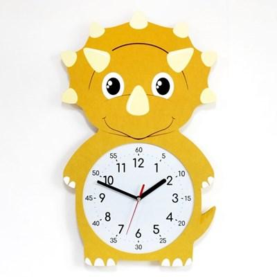 무소음 아이방 시계 동물친구들 - 트리케라톱스