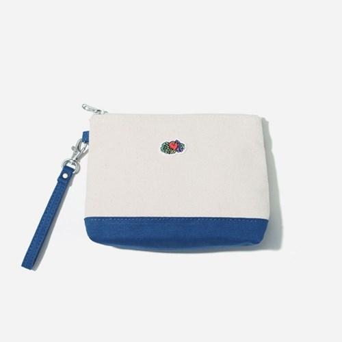 [프룻오브더룸] 포인트 컬러 파우치 블루