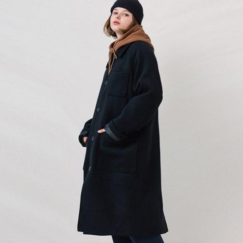 [프룻오브더룸] 울 싱글 코트 블랙