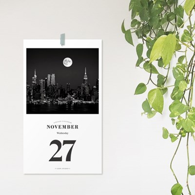[365 days 일력] 2019 The Moon Daily Calendar 1-12月 SET