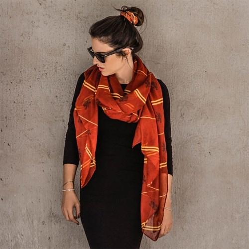 해리포터 롱 스카프 그리핀도르 패턴 넓은 여성용 숄 정품
