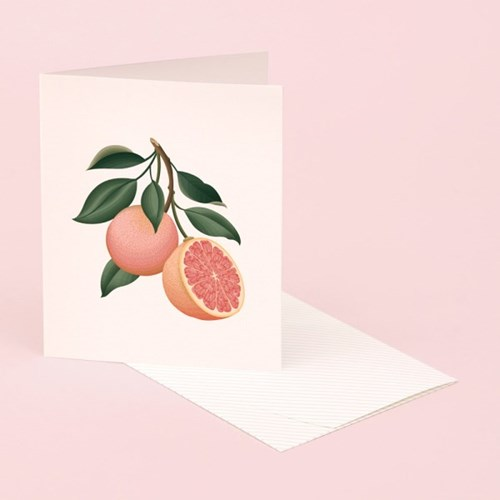 BOTANICAL SCENTED CARD – GRAPEFRUIT