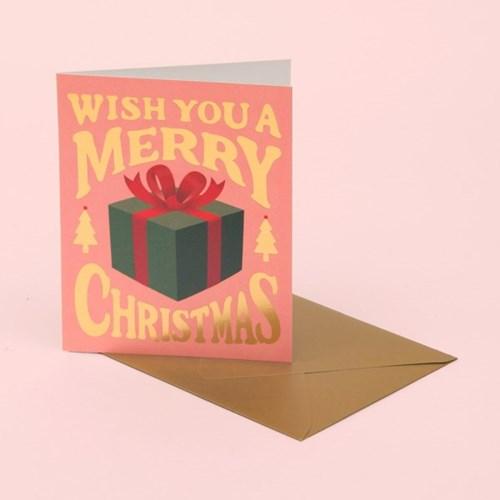CHRISTMAS PRESENT CARD – PINK