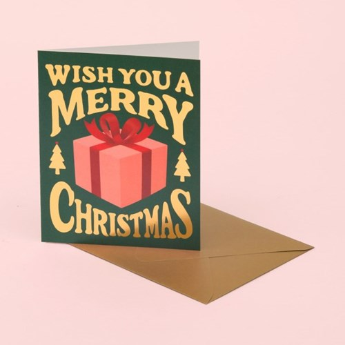 CHRISTMAS PRESENT CARD - DEEP GREEN