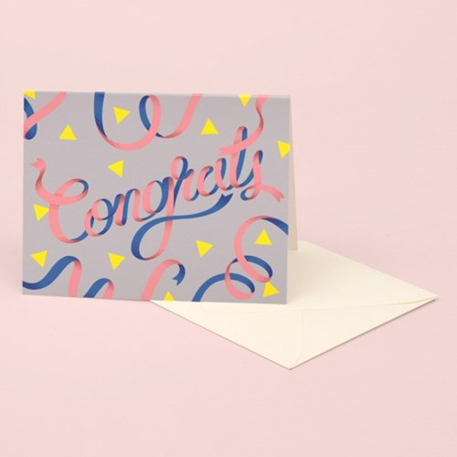 CONGRATS CARD – GRAY