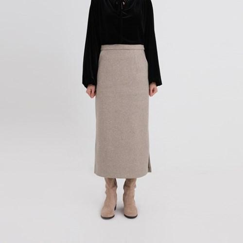 wool slit h-line skirt (2colors)
