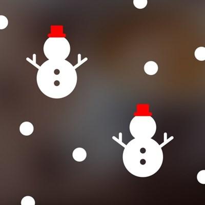 크리스마스 눈사람 스티커 xms018
