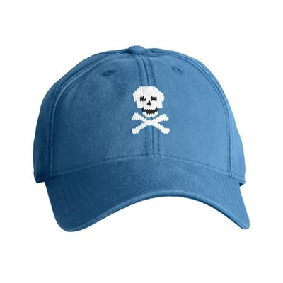 [Hardinglane]Adult`s Hats Skull and Bones on caspian blue