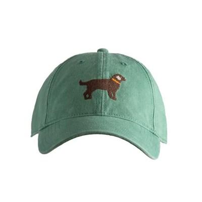 [Hardinglane]Adult`s Hats Chocolate Lab on moss green
