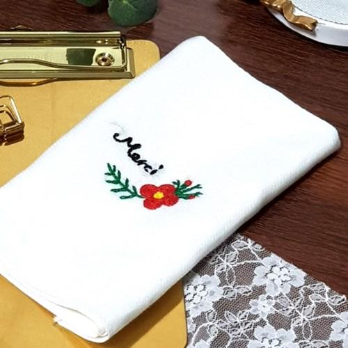 동백 꽃 손수건 프랑스자수 패키지 도안 DIY 세트