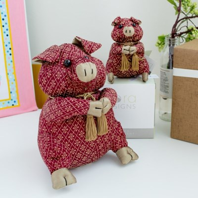 도라 디자인 돼지 도어스토퍼 (미니, 중)