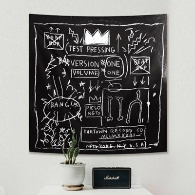 장미쉘 바스키아 태피스트리 패브릭포스터 - 크라운 (110x110cm)