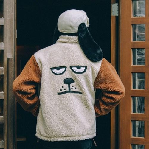 [FW18 NOUNOU] Dog Face Boa Jacket(Beige)_(655384)
