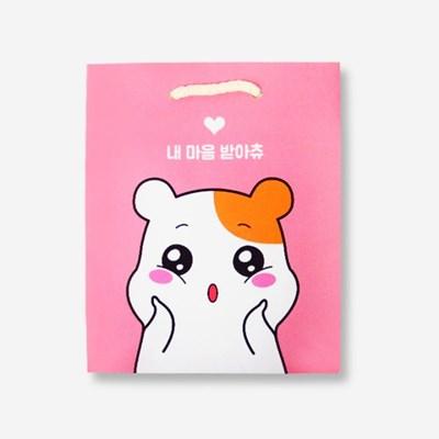 에비츄 종이 쇼핑백 (소)_핑크