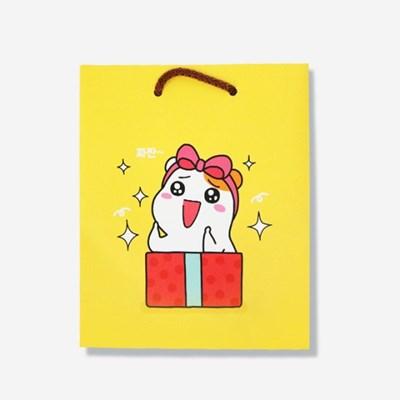 에비츄 종이 쇼핑백 (소)_옐로우