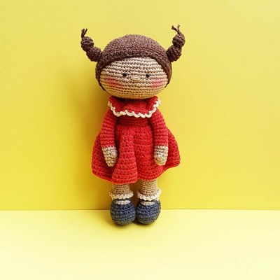 [손뜨개 DIY]손뜨개인형-빨강미미