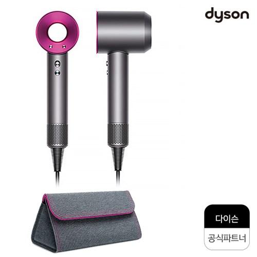 다이슨 슈퍼소닉(핑크) + 실버 파우치(신형) /공식파트너