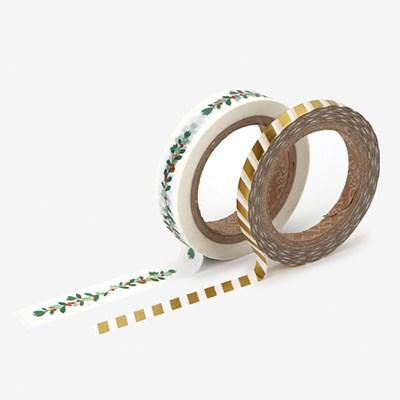 Masking tape christmas - 04 Wreath