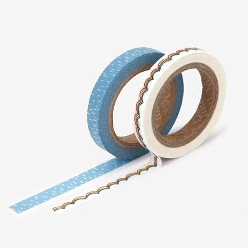Masking tape slim 2p - 06 Rainbow