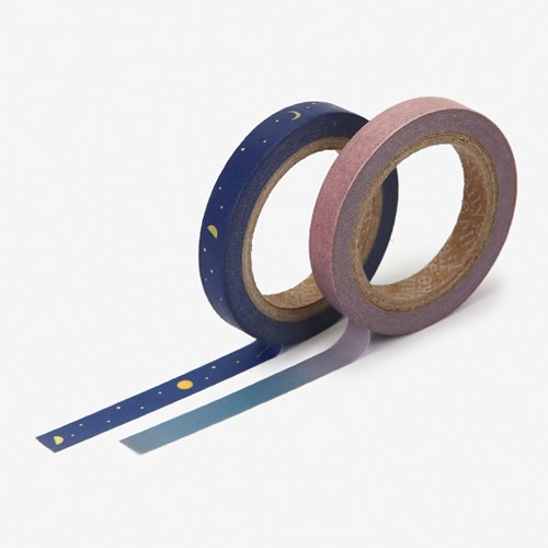 Masking tape slim 2p - 07 Night sky