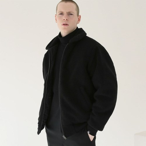 헤비 히트 양털자켓 자켓_블랙