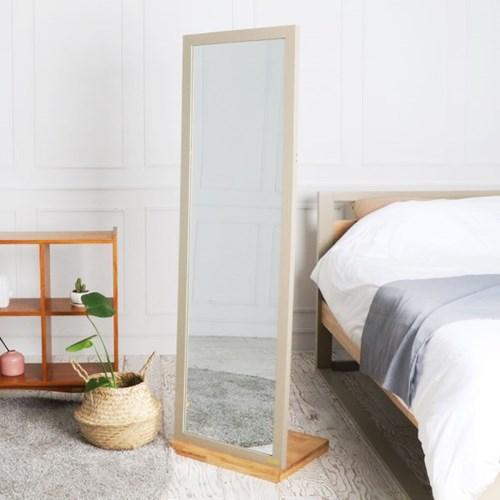 [바네스데코] LR 원목 레트로 전신 거울 (스탠드거치형)_(1053454)