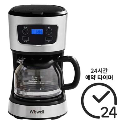 위즈웰 WC1082 커피메이커T 예약추출 원두커피머신