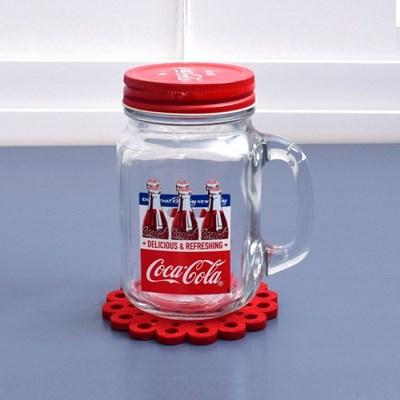 [정품] 코카콜라 마이카페 드링킹자 450ml (투명)