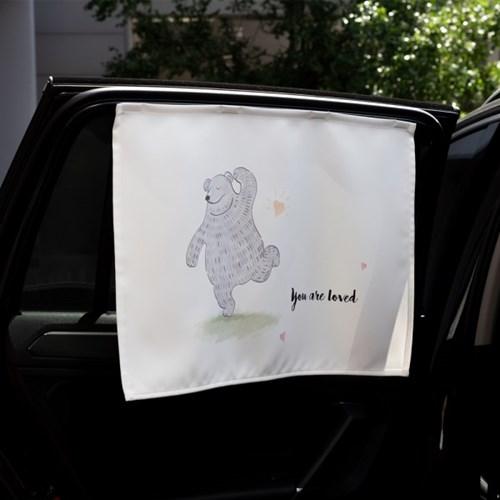 댄싱베어 차량용 햇빛가리개/다용도가리개커튼