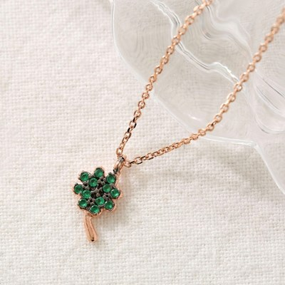 [925실버] 네잎클로버 목걸이
