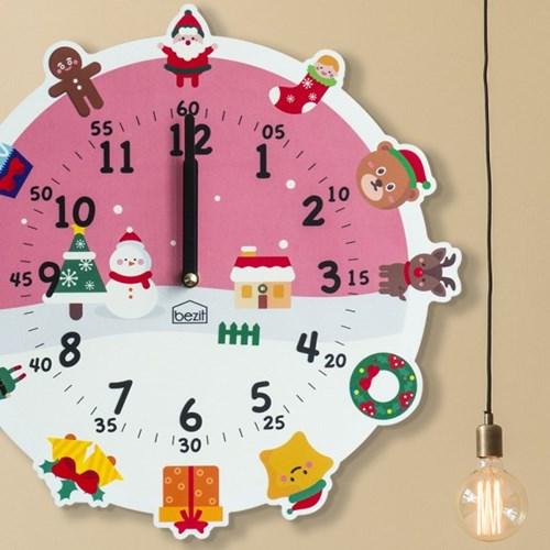 [BEZIT] 원더타임시리즈 러블리 크리스마스 무소음 벽시계