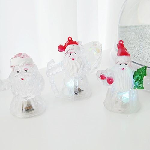 Clear Santa Lamp