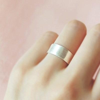 [하우즈쉬나우] 은빛 안개 Flat Basic Silver Ring (FREE SIZE)