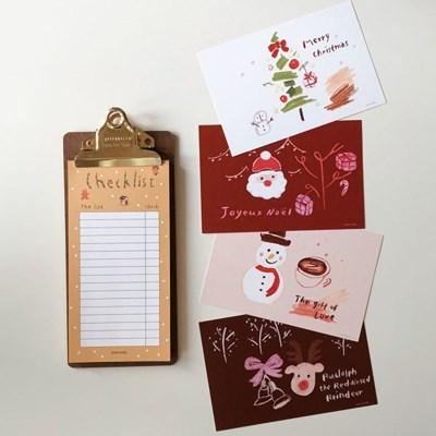 [2SET] 크리스마스 엽서 세트 + 체크리스트