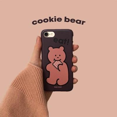 [뮤즈무드] cookie bear 아이폰케이스