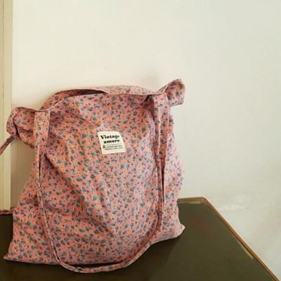빈티지핑크 로즈플라워 book bag