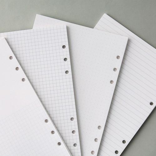 [텐텐문방구] A5 육공 다이어리 리필속지 기본형(라인,모눈,프리)