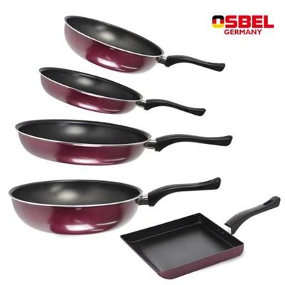 (5종세트) 오스벨 스마트 후라이팬 20cm+28cm+궁중팬20cm+28cm+계란